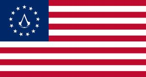 Assassin's Creed III: US flag 13 stars by metrovinz