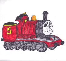 James the red Engine by SonicClone