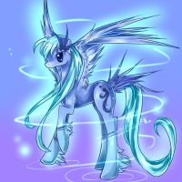 Feather Swirl Pony Adopt Auction-Collab by JigokuShii