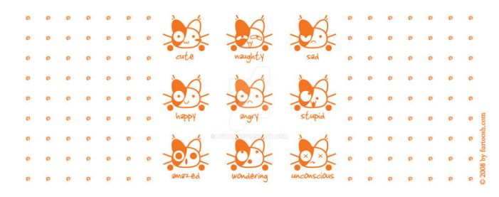 The many moods of kitty by hotah