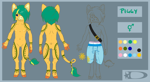 Reference sheet commission: derpzombii by DesmodiaDesigns
