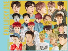 EXO Lucky One 19P png by hyukhee05
