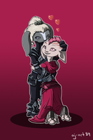 Commission - GW2 - Dwem and Nuurli by aj-art89
