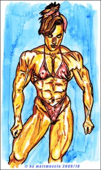 Old Time Female Bodybuilder by mattmuscle