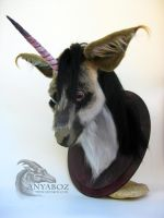 African Unicorn Head Mount by AnyaBoz