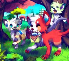 Monster Picnic by Pand-ASS