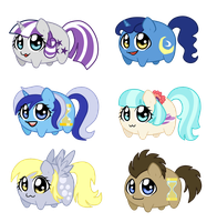Potato chibi Ponies: Minor characters 2 by linamomoko