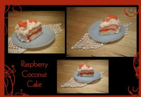 Raspberry Coconut Cake by Lunnie