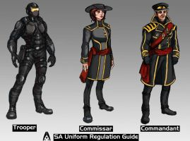 COMMISSION- Systems Alliance Soldiers set 02 by TheLivingShadow