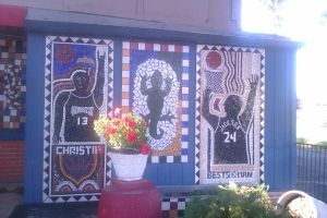Sacramento Kings Mural at Sals Restaurant by DearestLeader
