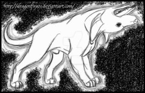 Messenger of Death: Hell Hound by DracoFeathers