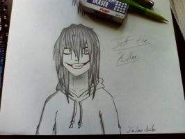 Jeff the Killer sketch by FicLoverSmiles