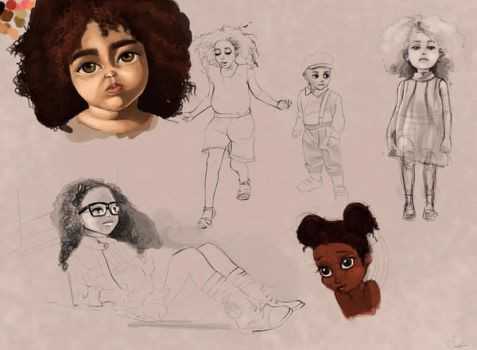 Character sketches by artclee