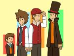 Professor Layton through the years by KammyBale