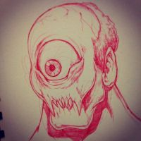 Red Cyclops by SketchMonster1