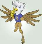 Griffon OC: Normal Lineart by Edowaado