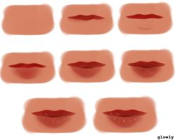 Mouth study/tutorial Paint Tool SAI by Pittsdolls