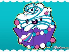 Sparkling Diamond Cupcake by marywinkler