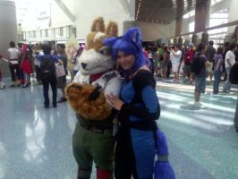 Anime Expo 2013 - Fox McCloud and Krystal by iFoxMcCloud