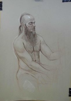 Life Drawing, seated nude by jgoytizolo