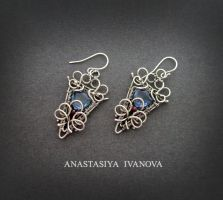 silver earrings with quartz by nastya-iv83