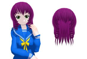 MMD Short hair purple Download by 9844