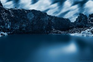 Lake at the night by iLoran