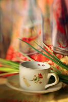 cup with a rose by Anti-Pati-ya