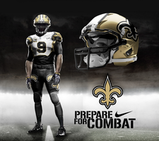 New Orleans Saints Away Alt by DrunkenMoonkey