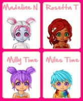 MH: Maddy Rosa Milly + Miles by GothicKitta