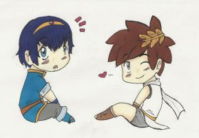 CHIBI Marth and Pit by FinLin