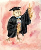 Graduating Owl! by Lucky101212