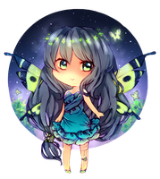 Commission: Butterflies at night by LittleHoshi