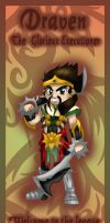 Draven bookmark design by Hotaru-oz