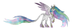 Princess Celestia by thelonedragonwolf