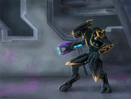 Halo-Fan Character...again. by jaxxblackfox