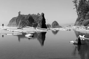 Ruby beach bw by Tyrant60