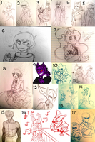 C-D : Sketches N' Stuff 2 by Zap-Zap-Forever