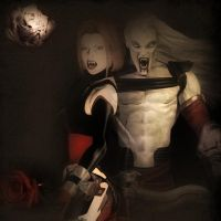 Kain and Bloodrayne by IamRinoaHeartilly