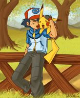 Ash and Pikachu by H-SWilliams