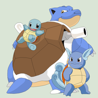 Pokemon Base 30~Squirtle Evolution~ by Xbox-DS-Gameboy