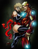iron man and ms marvel v 2.0 by rcardoso530