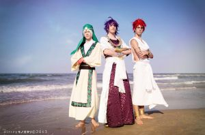 Magi ~ Jafar, Sinbad and Masrur by YamatoTaichou