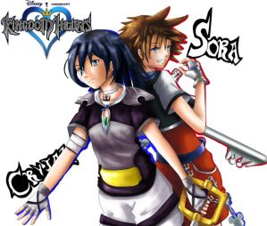 Sora and Crystal by AnEclipseAtdusk
