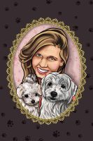 Pet Caricature 1 by Pameloo