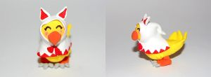 Chocobo white mage figure by knil-maloon