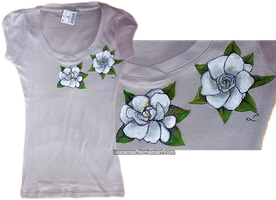White roses tee by LauraMSS