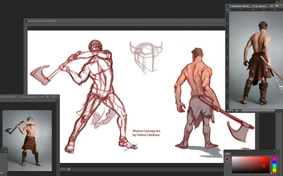 Warrior Pose Sketches by taho