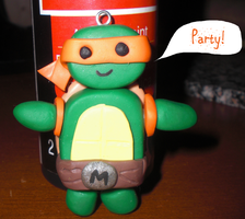 Teenage Mutant Ninja Turtle Clay Charm by Rubygem14