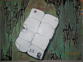 Painting N: 5 on Canvas 30 x 40 cm by K's Art by KsArt13